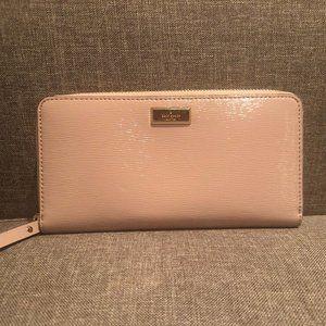 kate spade Leather Zipper Wallet in Light Pink